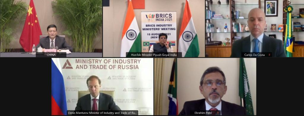 "Shri Piyush Goyal chairs the ""5th meeting of BRICS Industry Ministers"""